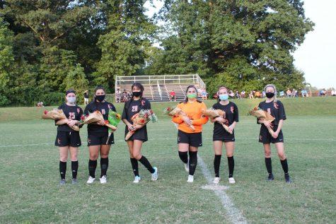 Senior members of the Fern Creek girls soccer team at senior night. Photo courtesy of Lynn Wurfel.