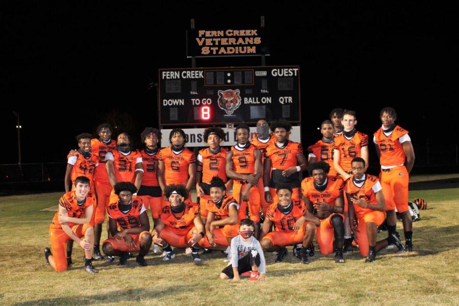 2020-2021 Fern Creek Tigers Football. Photo courtesy of Lynn Wurfel.